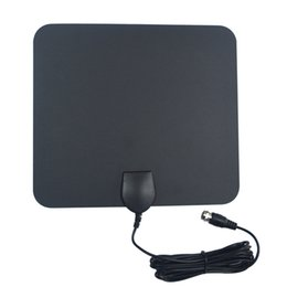 Wholesale Chipman Miles Ultra Thin Indoor HDTV Antenna Built in Amplifier for UHF VHF with ft Coaxial Cable A