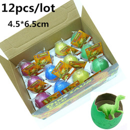 Wholesale 12pcs Novel Water Hatching Inflation Colorful Dinosaur Eggs Watercolor Grow Egg Educational Toys Classic toys for Unisex Kid