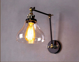 Wholesale 110 v Retro vintage Industrial Edison Simplicity Light Wall Mount Light Sconces Aged Steel Finished Antique lamp
