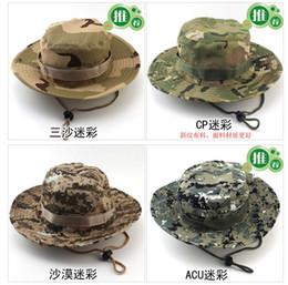 2017 sombreros de camuflaje Pesca de la manera plegable redonda Boonie sombrero de camuflaje selva Cap alpinismo que acampa al aire libre del sombrero del verano del sombrero del cubo Tanto para hombres y mujeres barato sombreros de camuflaje