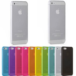 Wholesale iPhone Case Ultrathin Candy Color Case m PC PP matte Back cover for iphone quot G S S Galaxy S5 S2 S3 S4