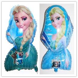 Wholesale Cartoon Aluminum Happy Birthday Decoration Frozen Princess Queen Elsa Balloon for Kids Party Supplies Foil Balloon two designs