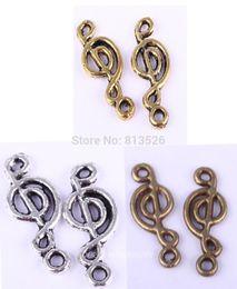 Wholesale OMH Antique Silver Gold Bronze Zinc Alloy Music Note Symbol Charms Pendants Hot sale Free ship