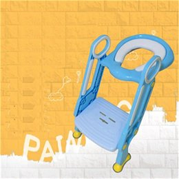 Wholesale Baby Kids Toilet Training Step Stools Toilet Trainer Potty Chair Ladder Learn How to Flush Potty Toilet Training Kids