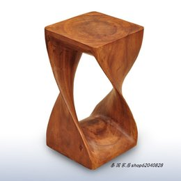 Wholesale Thai specialties creative abstract wood stool changing his shoes stool Southeast Asian style decorated wood ornaments Lucky Feng Shui