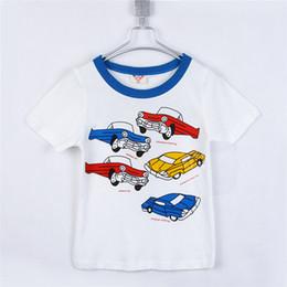 Descuento coche de camisetas al por mayor Venta al por mayor a 2015 niños de coche de verano ropa niñas carta bebé de la ropa de manga corta T-shirt B0306
