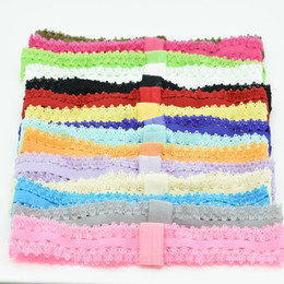 150pcs Newborn baby lace headbands baby girls hairbands hair elastic head bands toddler hair headband flower