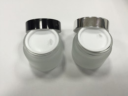 Free shipping - 50g frost glass cream jar, glass container, cosmetic packaging
