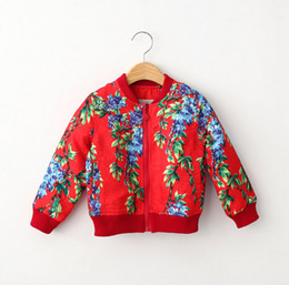 2015 Autumn kids wear new style European and American style printed girls leisure coats fashion style children casual jackets 5pcs lot T615