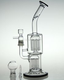 "Newest 10.5"" 14 Arm perc Glass Bong glass bubbler water pipe oil rig with 14.4mm joint toro Water Pipes"