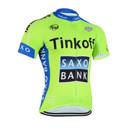 2015 TINKOFF SAXO BANK TEAM FLUO T8 ONLY Short Sleeve Cycling Jersey Bicycle Wear Size XS-4XL A003