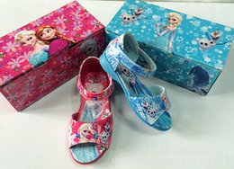 new fashion kids shoes sandal girl shoes frozen character shoes summer children shoes princess elsa anna shoes free shipping