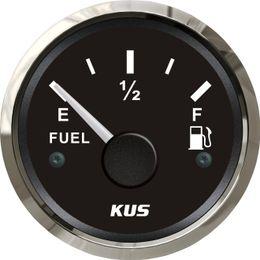 Wholesale 52mm Fuel level gauge fuel level meter ohm signal black face for generator yatch marine boat car truck universal