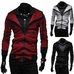 Wholesale-Sports Hooded Jacket Casual Winter Jackets Hoody Sportswear Hip Hop Jacket Men's Clothing Hoodies Sweatshirts Sports Suit Men