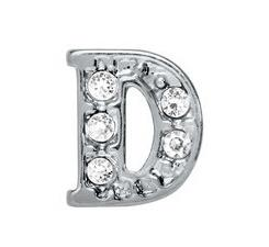 """20pcs lot rhinestone Silver English Alphabet Letter """" D """" Floating Locket Charm Fit For Jewelry Making Gift For Friends"""