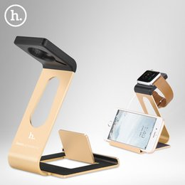 Wholesale 2015 For Apple Watch iPhone plus Display Charger Dock Table Smart Holder Stand Charge For Smart Watch i Watch Aluminum Bracket