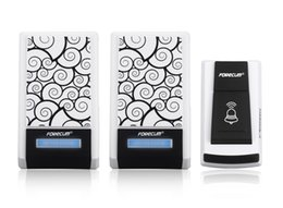 Wholesale Forecum F Waterproof Wireless Smart Doorbell with Receivers DC Door Bell Chimes m Range for Home Office S287