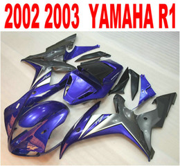Injection molding new aftermarket for YAMAHA fairings YZF-R1 2002 2003 blue black plastic fairing kit YZF R1 02 03 HS35