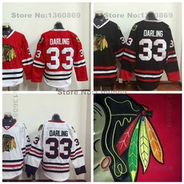 Wholesale Factory Outlet Mens Authentic Chicago Blackhawks Jerseys Scott Darling Jersey New Red White Balck Stitched Scott Darling Hockey Je