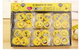 Enfants mignons effaceurs en Ligne-Mignon visage souriant gomme emoji effaceur sourire belle gomme caoutchouc sourire style drôle Gomme de visage enfants cadeau papeterie créative