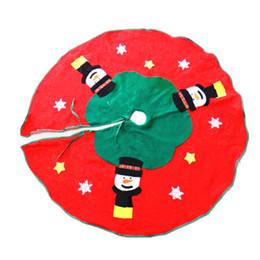 Wholesale RQAa202 Christmas tree skirt cm single green edge plum blooms heart three snow skirt Christmas gift stickers poll