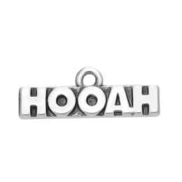 Free shipping New Fashion Easy to diy 30pcs hooah letters charms for DIY jewelry making fit for necklace or bracelet