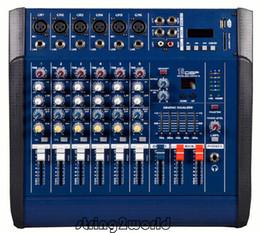 Wholesale Professional Audio Powered Amplifier Mixer Channels Graphic EQ Mixing Console Mezcladora De DJ Wx2 PMX602D