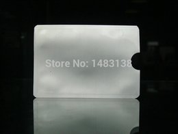 Wholesale Silver Anti Theft Credit Card Protector Aluminum RFID Blocking Sleeve Protect your money and ID info security