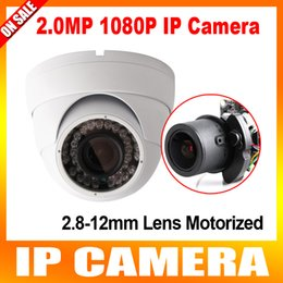 Wholesale 4x Zoom Auto iris Varifocal Motorized Lens IR m MP Dome Security Network IP Camera With POE P Outdoor Support IOS Android P2P View