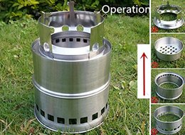 Wholesale Portable Stainless Steel Lightweight Stove Wood Solidified Alcohol Stove Outdoor Cooking Picnic BBQ Camping Lightweight