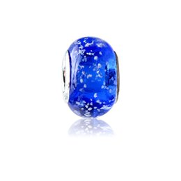Snowflake Blue Charm Bead 925 Silver Plated Fashion Women Jewelry European Style For Pandora Bracelet PANMB002
