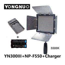 Wholesale Yongnuo YN300 III YN III K CRI95 Camera Photo LED Video Light with mAh NP F550 Battery with Charger set