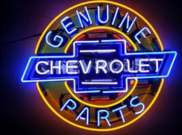 Wholesale chevrolet parts genuine auto car neon sign store display beer bar pub light Real Glass Tube quot