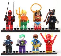 Wholesale 4 cm set SY178 Super Heroes Wonder Woman Deadpool Joker The Flash Building Blocks Minifigure DIY Bricks Toys