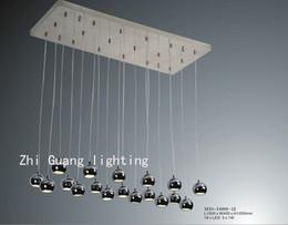 Aluminium chrome pendant lamp included led light