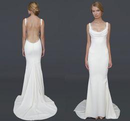 Wholesale 2016 Summer Barcelona Dresses Wedding Spghetti Strap Mermaid Floor Length Garden Beach Bridal Gown Katie May Formal Wear Custom Made