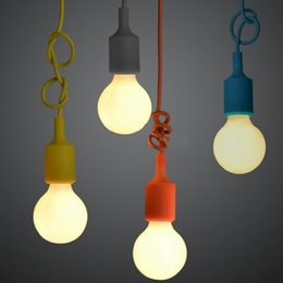 Wholesale-Free shipping E27 colorful silicone lamp holder High quality pendant light 10 colors DIY pendant lights +100cm cord+ceiling base