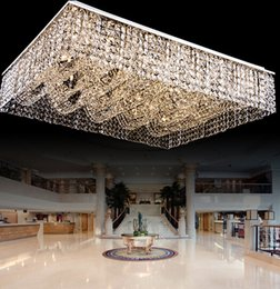 nueva montura de estar ligera sala rectangular lámparas de techo cristalinas de la lámpara al ras, amplio vestíbulo moderno hotel de la luz de la lámpara desde montaje en el techo accesorios de iluminación fabricantes