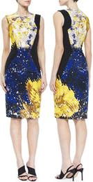 Multicolor Round Neck Sleeveless Print Dress Round Neck Dresses 15101528