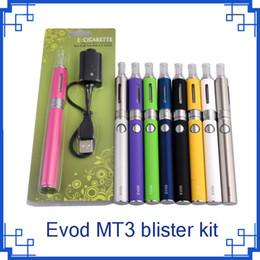 Evod MT3 blister starter kits E-cigarette kit mt3 tanks e cigarette EVOD atomizer Clearomizer Evod battery vs battery blister 0209011