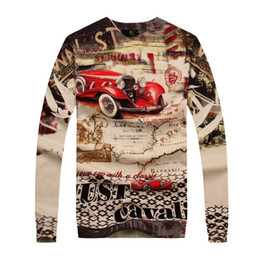 Wholesale-2015 Real Dress Mens Sweaters Autumn New Fashion V Neck Knit Shirt Men's Knitted Sweater Printing A Thin Long Sleeved Clothing