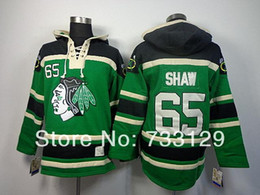 2016 New, stitched Old Time Hockey Hoodies #65 Andrew Shaw Green Fleece Hoodie Jersey Men's hockey Sweatshirts Embroidery Name&Nu