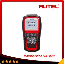 Wholesale 100 orginal Autel MaxiService VAG505 Diagnostic Tool OBDII Code Reader Clean VAG free Online Update