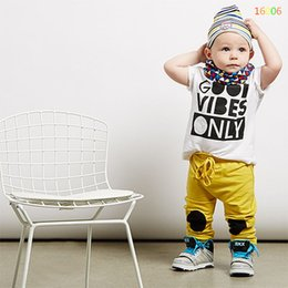 SamgamiBaby 2016 New Arrival summer style short sleeve Casual Cotton INS Letter t-shirt +Casual pant outfits for kids
