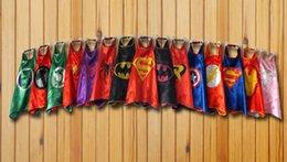 Wholesale mono layer superhero capes party favors customize logo Superman Spiderman Batman Captain America Ironman