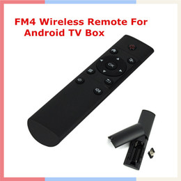 Wholesale 2 GHz Remote Control Keyboard FM4 Wireless Air Mouse for Android TV BOX KODI MXQ MXV MAG250 PC Laptop