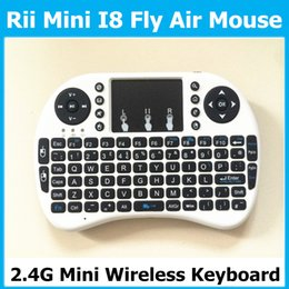 Wholesale Chargeable battery I8 Fly Air Mouse Remote G Mini Wireless Keyboard Touchpad for MXQ Pro T95 MXIII M8S Plus Android TV Box pc