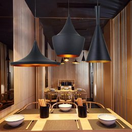 Wholesale Design by Tom Dixon Pendant Lamp Beat Light tom dixon black aluminum shade Chandelier lamps Tall Fat and Wide DHL