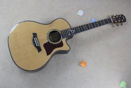 Wholesale Hot Authentic firehawks veneer wood guitar ebony fingerboard venee Acoustic Electric Guitar Strings Guitars with Fishman