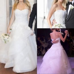 Charming Sweetheart Floor Length Organza Lace Wedding Dresses Plus Size Bride Bridal Gowns Vestidos De Noiva casamento
